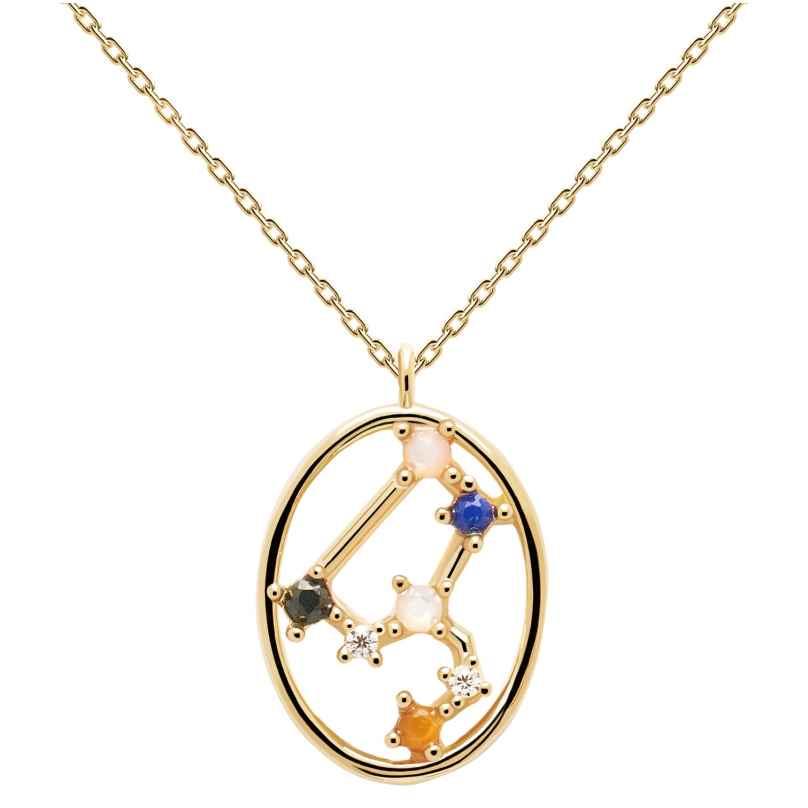 P D Paola CO01-348-U Damen-Kette Sternzeichen Löwe Silber vergoldet 8435511718304