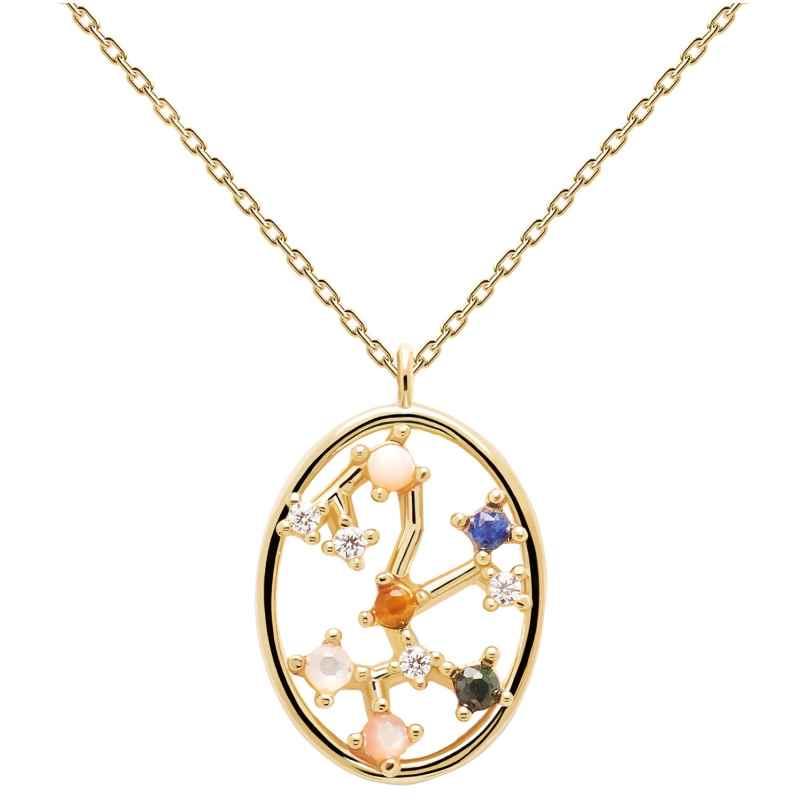 P D Paola CO01-352-U Damen-Halskette Sternzeichen Schütze Silber vergoldet 8435511718342