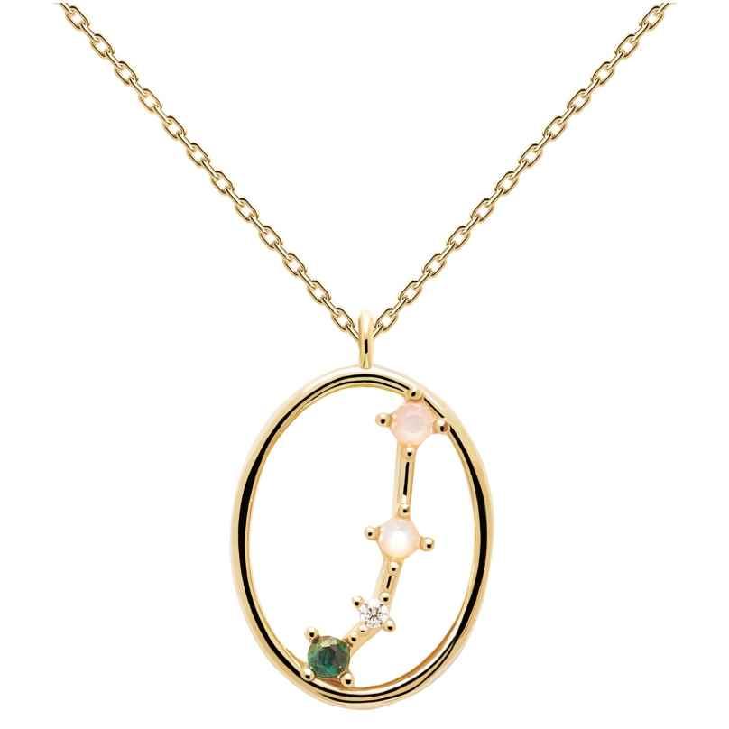 P D Paola CO01-344-U Damen-Halskette Sternzeichen Widder Silber vergoldet 8435511718267