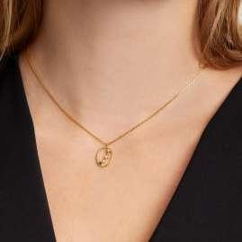 P D Paola CO01-344-U Damen-Halskette Sternzeichen Widder Silber vergoldet