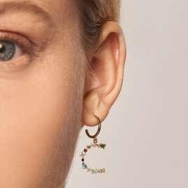 P D Paola AR01-269-U Women's Hoop Earrings Letter C