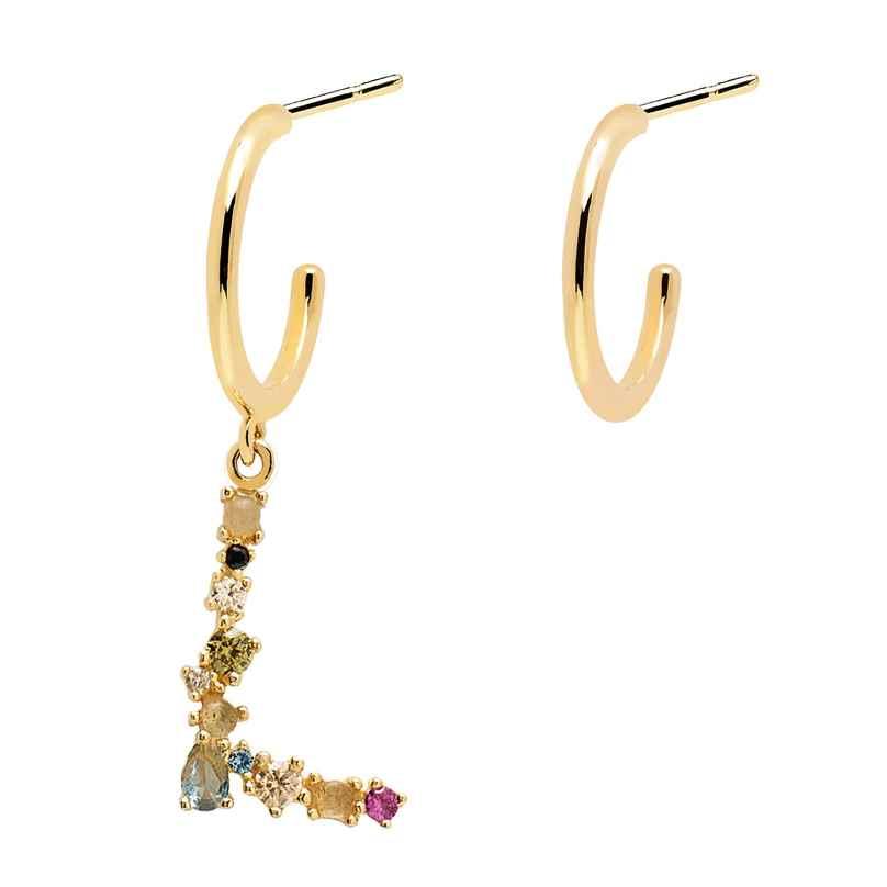 P D Paola AR01-262-U Women's Hoop Earrings Letter L 8435511714696