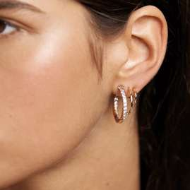 P D Paola AR01-248-U Ladies' Hoop Earrings Majestica