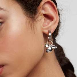 P D Paola AR02-185-U Ladies' Hoop Earrings Ivy Silver
