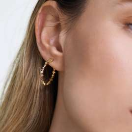 P D Paola AR01-221-U Women's Hoop Earrings Halo