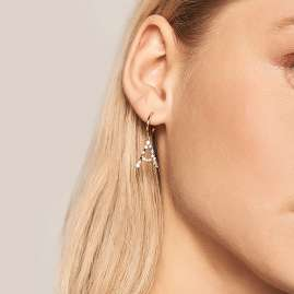 P D Paola AR01-251-U Women's Hoop Earrings Letter A