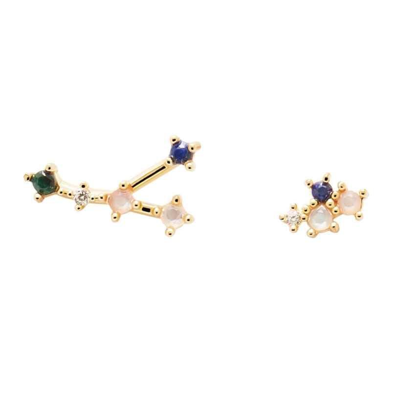 P D Paola AR01-407-U Damen-Ohrringe Sternzeichen Krebs Silber vergoldet 8435511718410