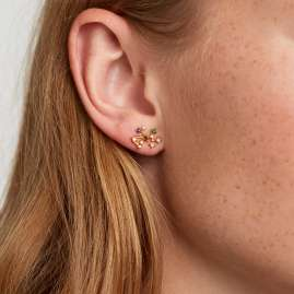 P D Paola AR01-412-U Women's Earrings Star Sign Sagittarius Gold Plated Silver