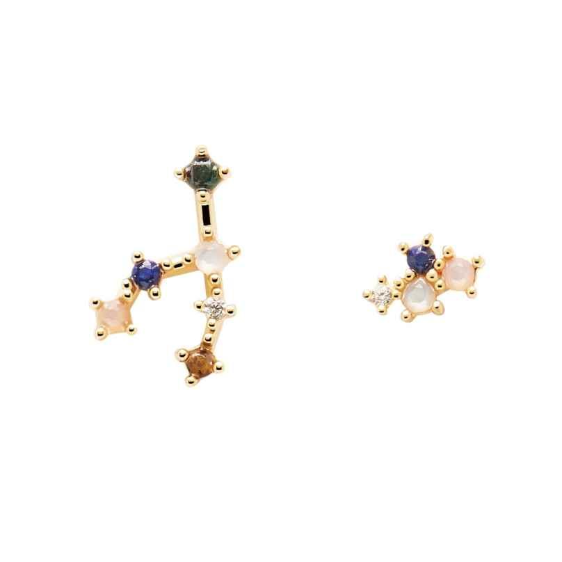 P D Paola AR01-405-U Damen-Ohrringe Sternzeichen Stier Silber vergoldet Ohrringe 8435511718397