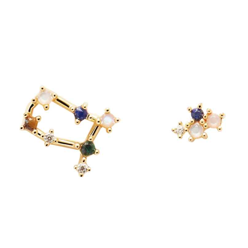 P D Paola AR01-406-U Damen-Ohrringe Sternzeichen Zwilling Silber vergoldet 8435511718403
