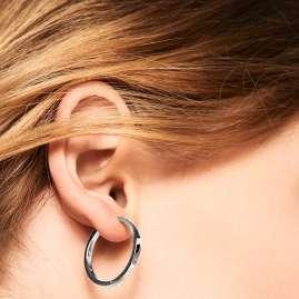 P D Paola AR02-031-U Damen-Ohrringe Scharnier-Creolen Silber