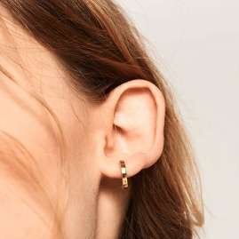 P D Paola AR01-030-U Ladies' Hoop Earrings Gold Tone
