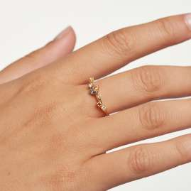 P D Paola AN01-210 Women's Ring Five Gold-Plated Silver