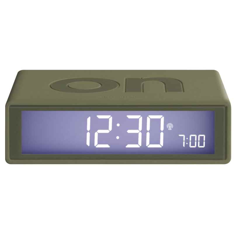 Lexon LR150K9 Radio-Controlled Alarm Clock Flip+ Khaki 3660491121386