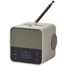 Lexon LA117GV Radio Clock Oslo News DAB+ FM Light-Grey / Green
