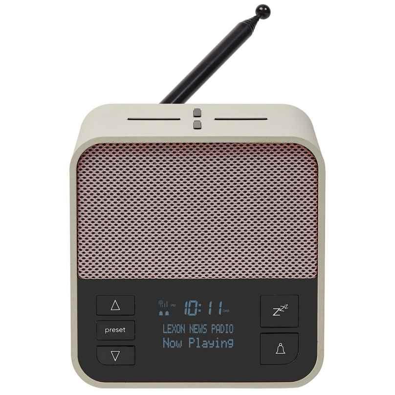 Lexon LA117GP Radiowecker Oslo News DAB+ FM Hellgrau/Pink 3660491005983