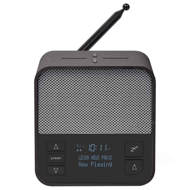 Lexon LA117GG Radiowecker Oslo News DAB+ FM Anthrazit/Grau 3660491005990