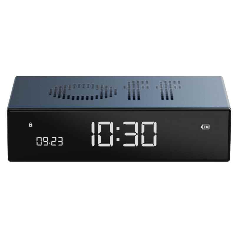 Lexon LR152B Digital Alarm Clock Flip Premium Blue 3660491203396