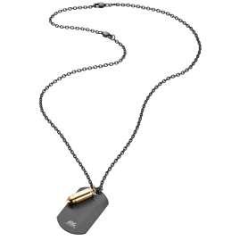 Save Brave SBN-Milan-G Herren-Halskette Milan Edelstahl schwarz/gold
