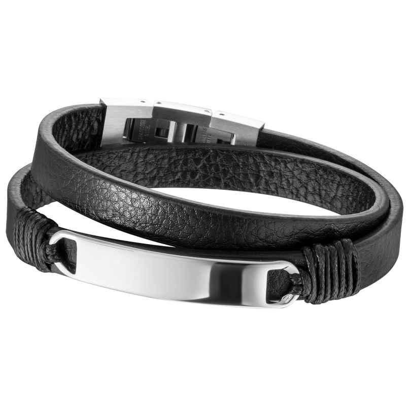Save Brave SBB-MASON-BK Herren Leder-Armband Schwarz Mason 4260581747886