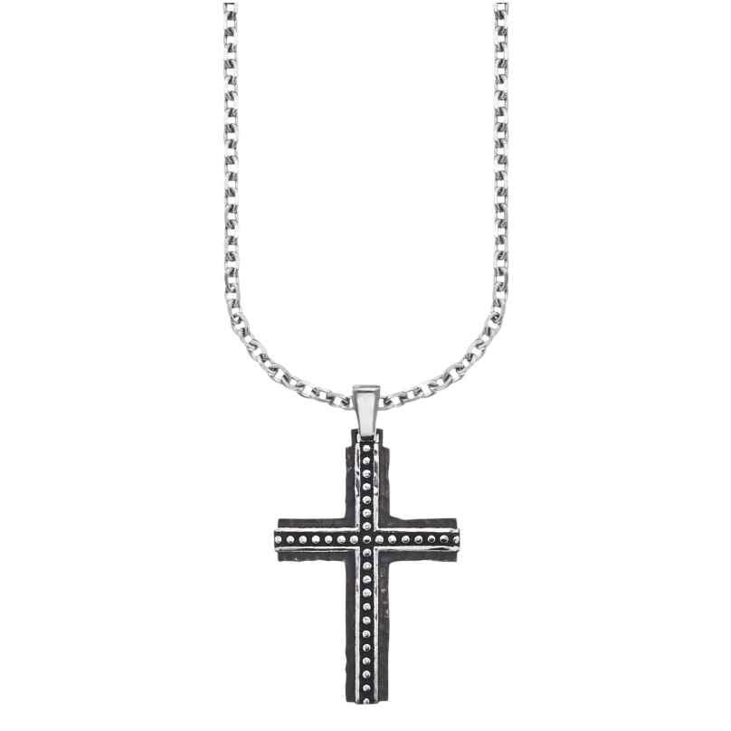Save Brave SBN-BJORN Men's Cross Pendant Necklace Bjorn 4260316917416