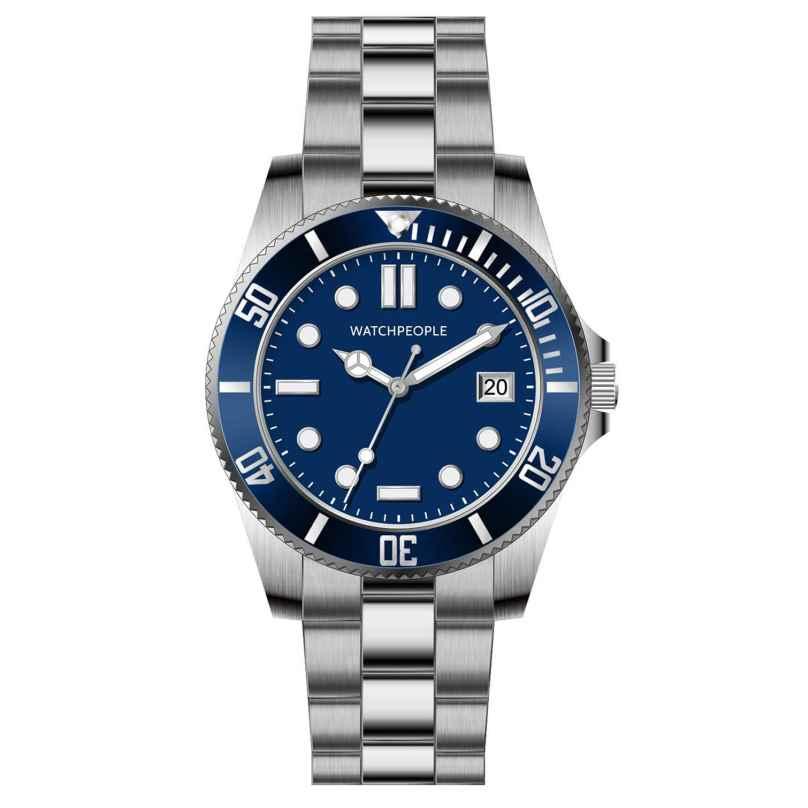Watchpeople BSG003-01 Brown Sugar Herrenuhr Flat Iron Blau 4251511707117