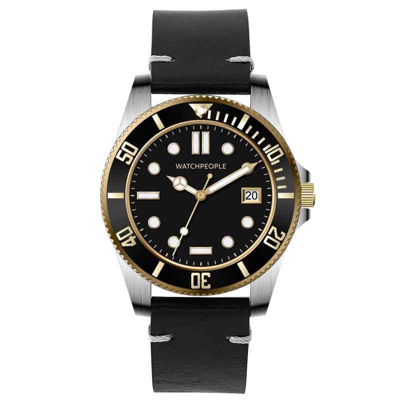 Watchpeople BSG008-02 Brown Sugar Herren-Armbanduhr Flat Iron Schwarz/Bicolor 4251511707254