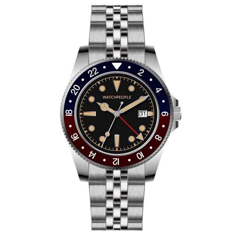 Watchpeople BSG022-01 Brown Sugar Men's Watch Flat Iron Black/Red 4251511707421