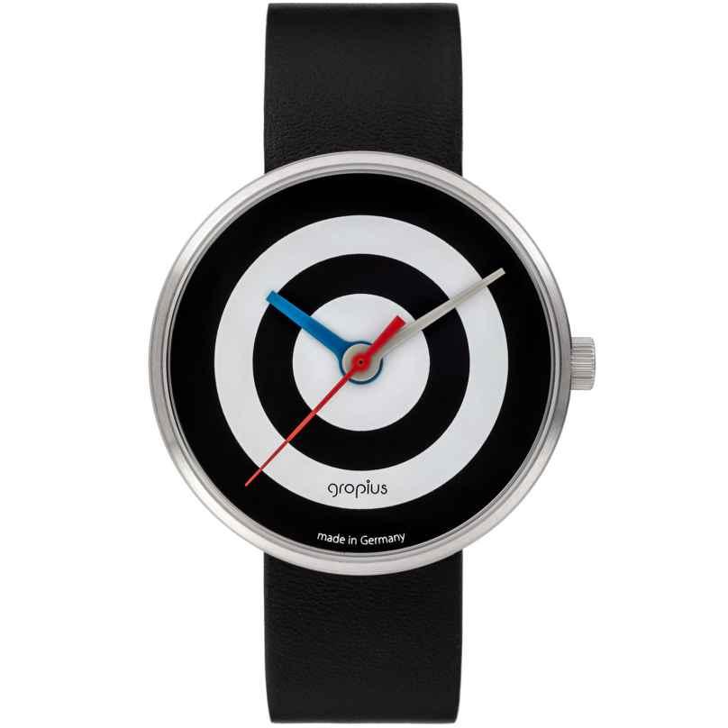 Walter Gropius WG005-07 Unisex Armbanduhr J. Albers Schwarz/Weiß 4251511702105