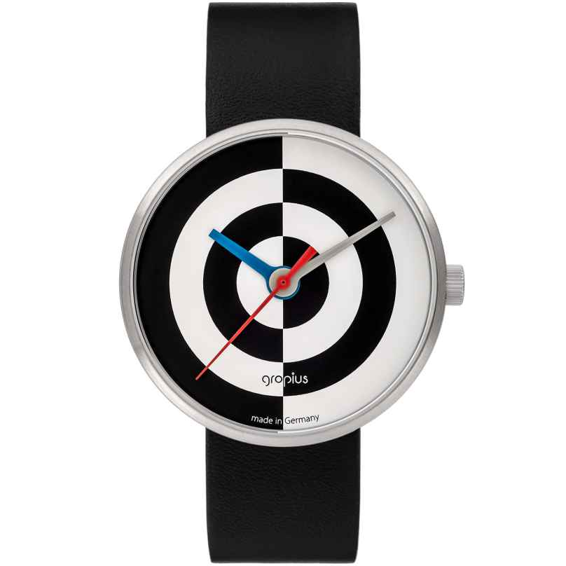 Walter Gropius WG005-08 Watch with Leather Strap J. Albers Black/White 4251511702129