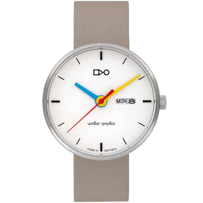 Walter Gropius WG007-03 Armbanduhr Simplex Hellgrau/Weiß 4251511702204