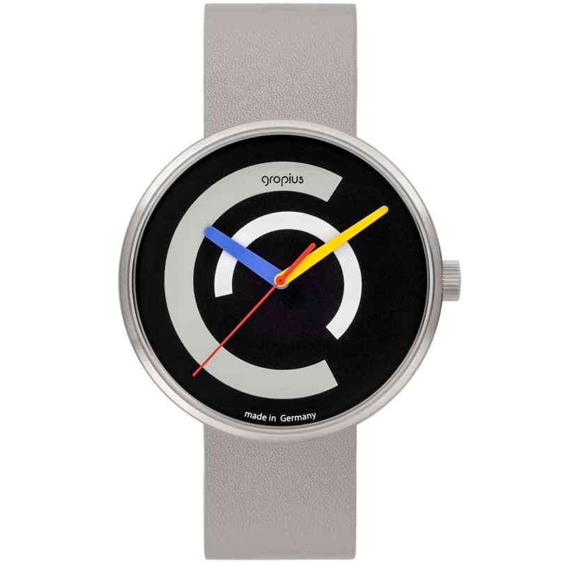 Walter Gropius WG010-01 Unisex-Uhr Centum mit Lederband Hellgrau 4251511703072