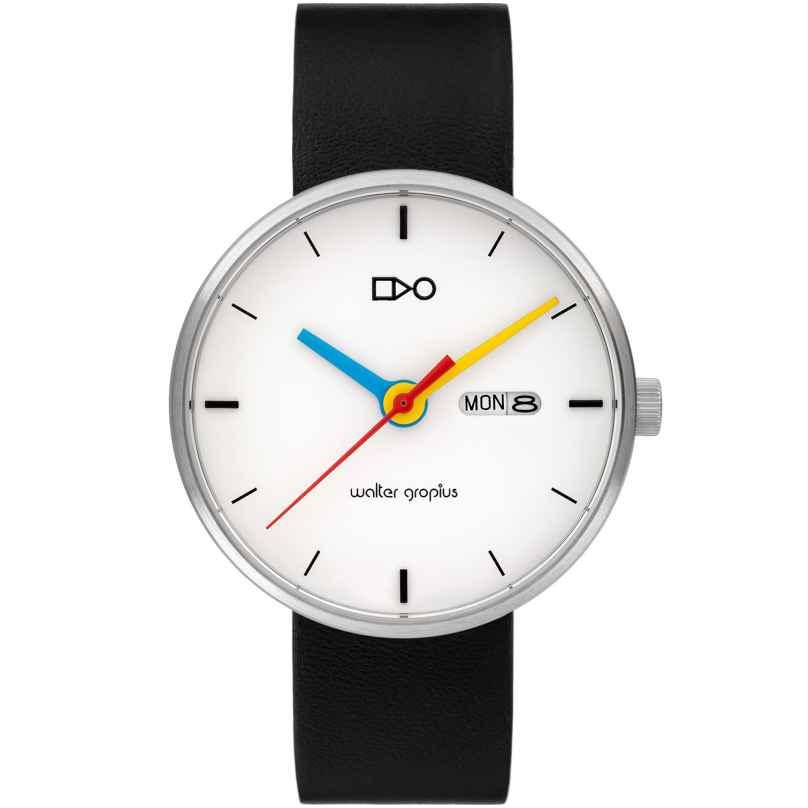 Walter Gropius WG007-03S Armbanduhr Simplex Schwarz/Weiß 4260684397438