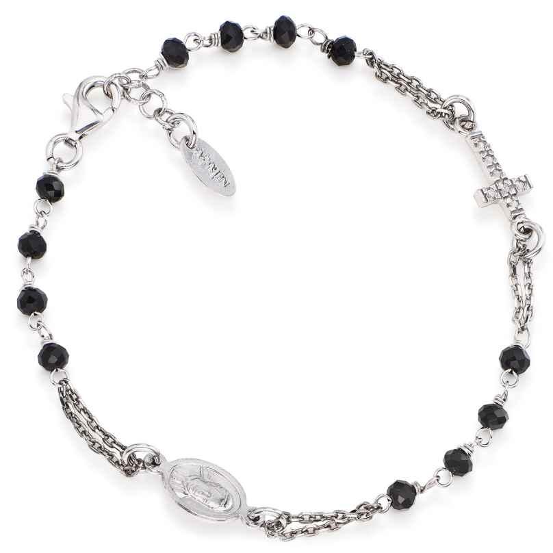 Amen BROBNZ3 Damen-Armband Kristall-Rosenkranz 925 Silber 8054719003601