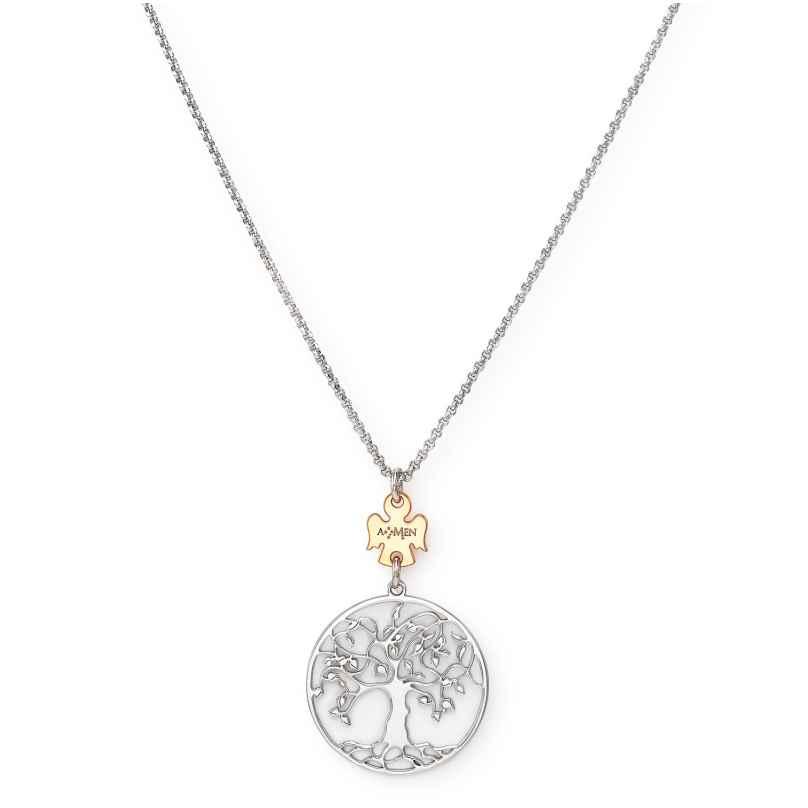 Amen CLALABR3 Damen-Halskette Lebensbaum 925 Silber 8054719085003