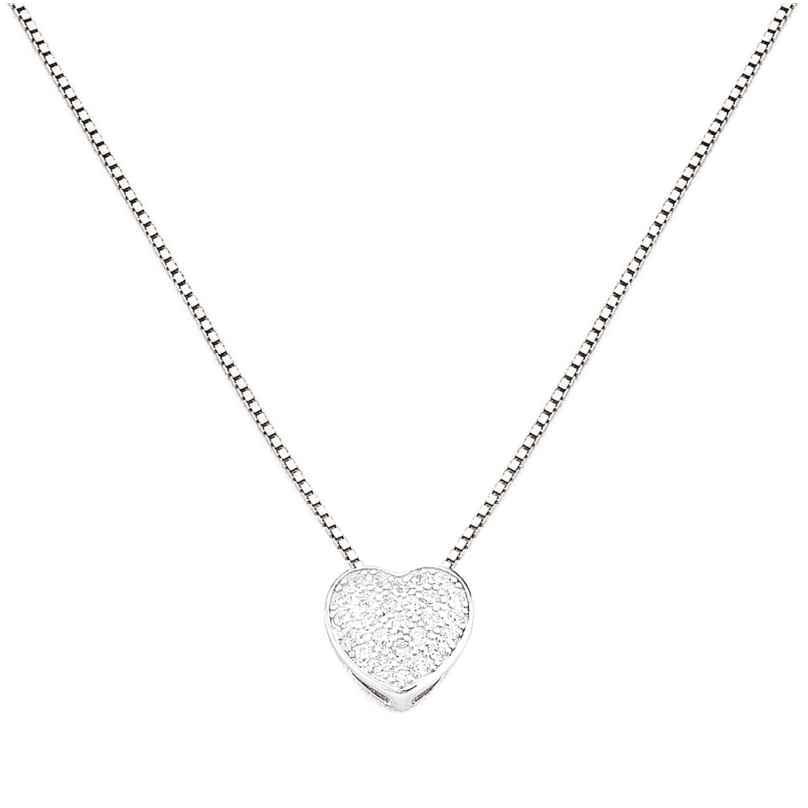Amen CLPH Damen-Halskette Herz 925 Silber mit Zirkonia 8054719000815