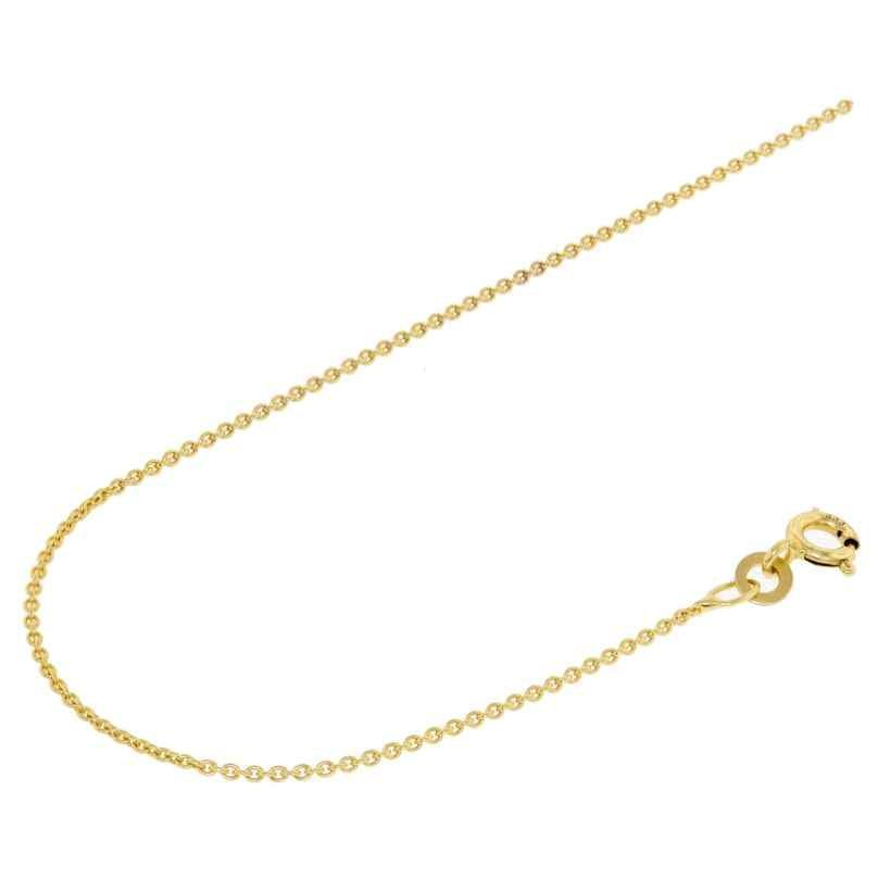 Acalee 10-1011 Halskette 333 Gold / 8 Karat Anker-Kette 1,1 mm
