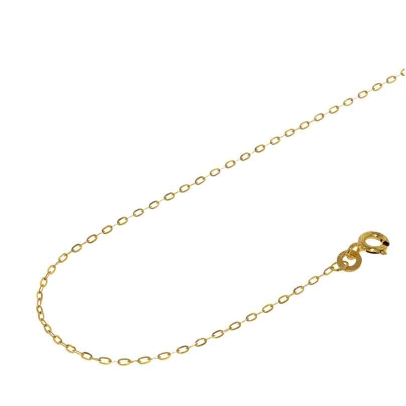 Acalee 10-1050 Halskette 333 Gold / 8 Karat Flachanker-Kette 1,1 mm