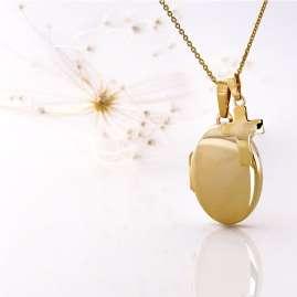 Acalee 30-3001 Halskette mit Medaillon und Kreuz 333 Gold / 8 Karat