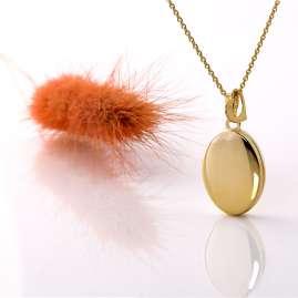 Acalee 30-3004 Halskette mit Medaillon und Herzchen Anhänger Gold 333 / 8K