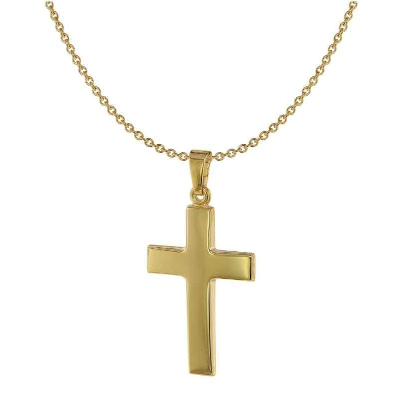 Acalee 20-1215 Kette mit Kreuz-Anhänger 8 Karat / 333 Gold