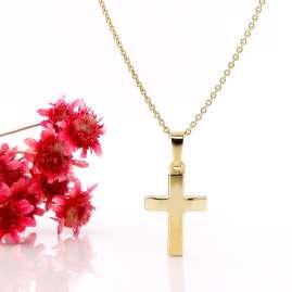 Acalee 20-1220 Kinder-Halskette mit Kreuz-Anhänger Gold 333 / 8 Karat