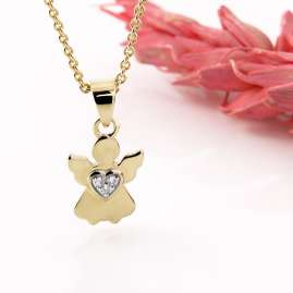 Acalee 50-1011 Children's Necklace with Angel Gold 333 / 8K