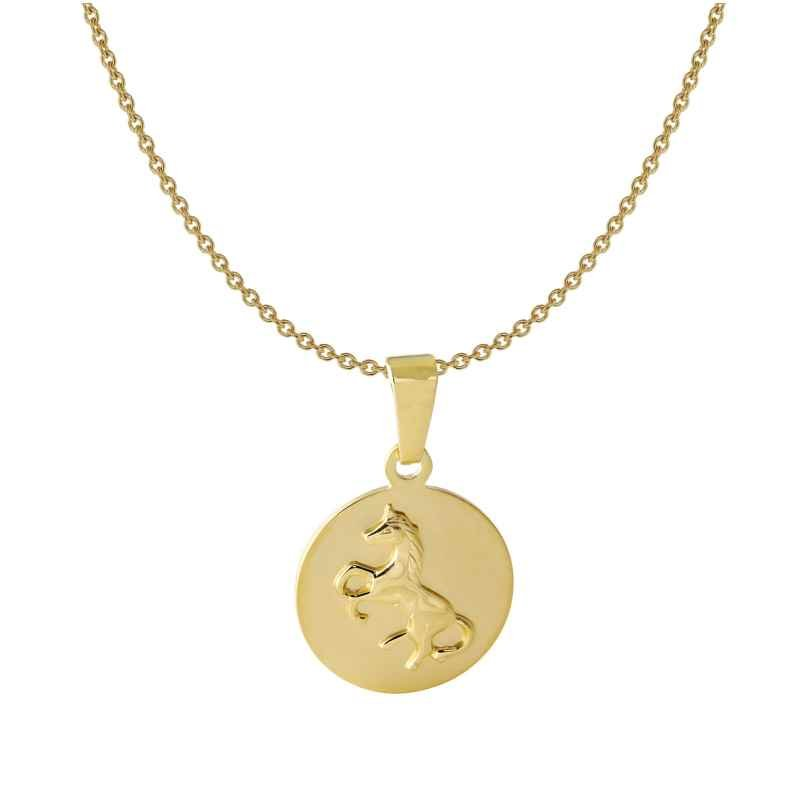 Acalee 50-1014 Kinder-Halskette mit Pferde-Anhänger 333 / 8K Gold