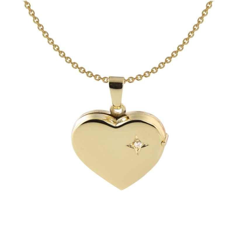 Acalee 30-3007 Damen-Kette mit Herz-Medaillon 333 / 8K Gold