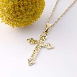 Acalee 20-1219 Halskette orthodoxes Kreuz 333 / 8K Gold
