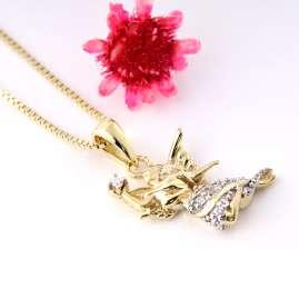 Acalee 50-1017 Kinder Goldkette mit Engel Gold 333 / 8K Halskette