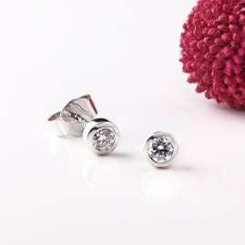 Acalee 70-1008-25 Diamant-Ohrringe Weißgold 585 Ohrstecker 0,25 Karat