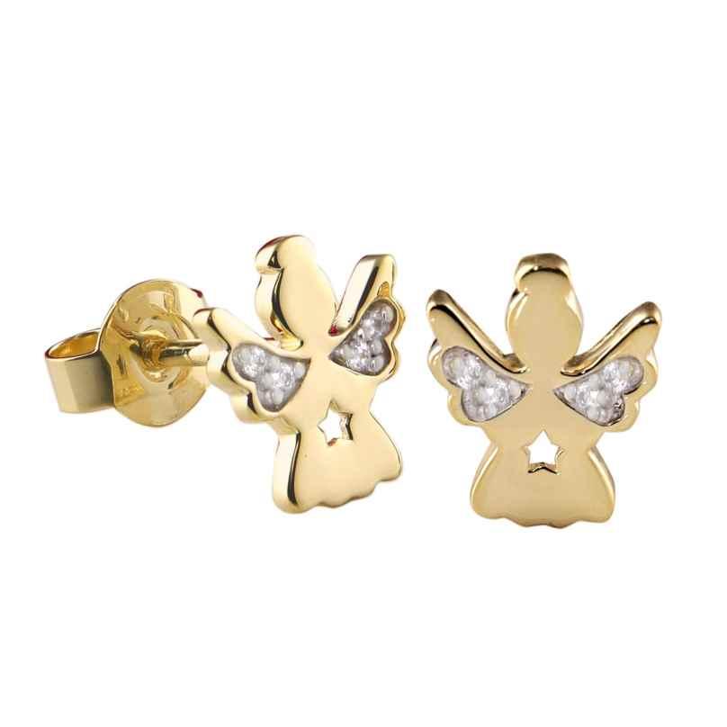 Acalee 70-1010 Ohrringe für Kinder Gold 333 / 8K Engel-Ohrschmuck Zirkonia 4260727510596