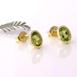 Acalee 70-1014-04 Damen-Ohrringe Gold 333 / 8K Ohrstecker Peridot